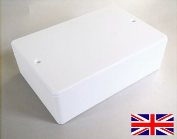 White ABS Gloss Plastic Small Enclosure 116mm x 78mm x 37mm (RX1006W)